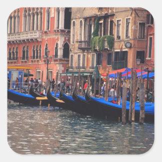 Europe, Italy, Venice, gondolas in canal Square Sticker