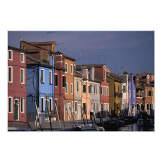 Europe, Italy, Venice. Multi, colored houses Photo Art
