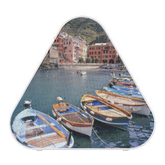 Europe, Italy, Vernazza. Brightly painted boats Bluetooth Speaker