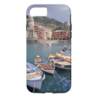 Europe, Italy, Vernazza. Brightly painted boats iPhone 7 Case