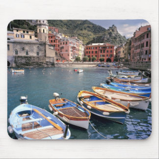 Europe, Italy, Vernazza. Brightly painted boats Mouse Pad