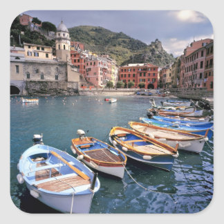 Europe, Italy, Vernazza. Brightly painted boats Sticker