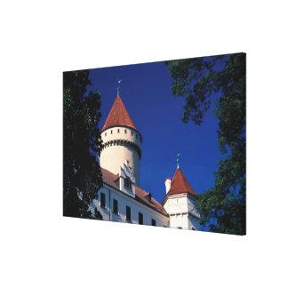 Europe, Konopiste Castle, Czech Republic, statue Canvas Print