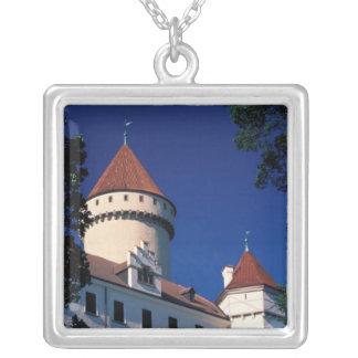 Europe, Konopiste Castle, Czech Republic, statue Silver Plated Necklace