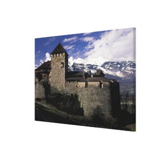 Europe, Liechtenstein, Vaduz. Vaduz castle, 2 Canvas Print