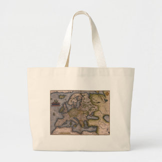 Europe Map 1572 Canvas Bags