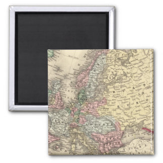 Europe Map by Mitchell 2 Inch Square Magnet
