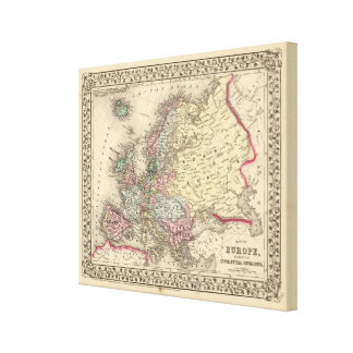 Europe Map by Mitchell Canvas Print
