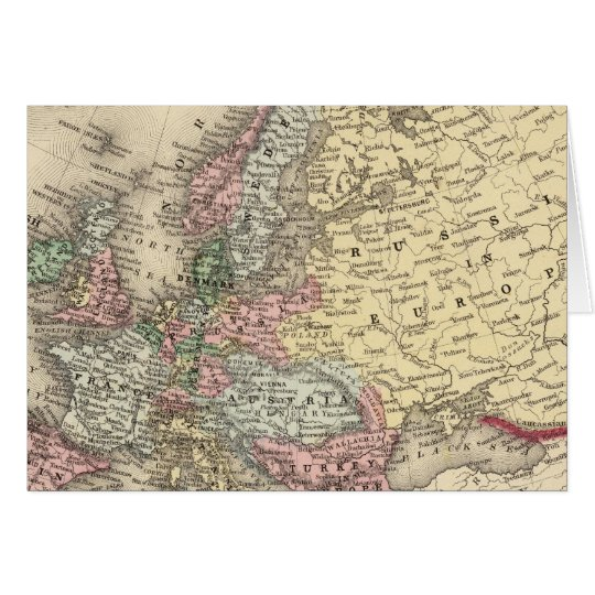 Europe Map by Mitchell Card