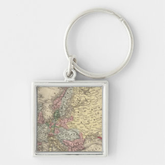 Europe Map by Mitchell Keychain