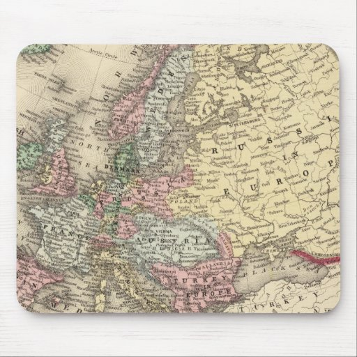 Europe Map by Mitchell Mouse Pad