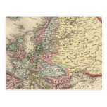 Europe Map by Mitchell Postcard