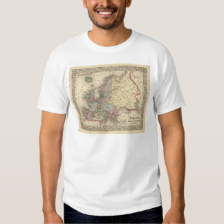 Europe Map by Mitchell T-Shirt