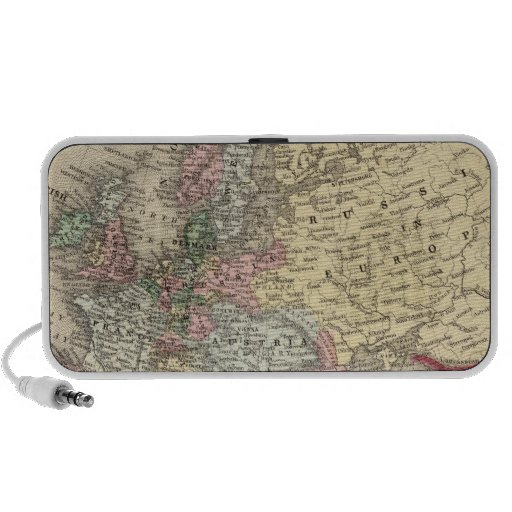 Europe Map by Mitchell Travel Speaker