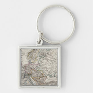 Europe Map by Stieler Keychain