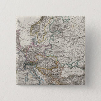 Europe Map by Stieler Pinback Button