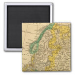 Europe  Map by Worcester 2 Inch Square Magnet