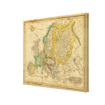 Europe  Map by Worcester Canvas Print