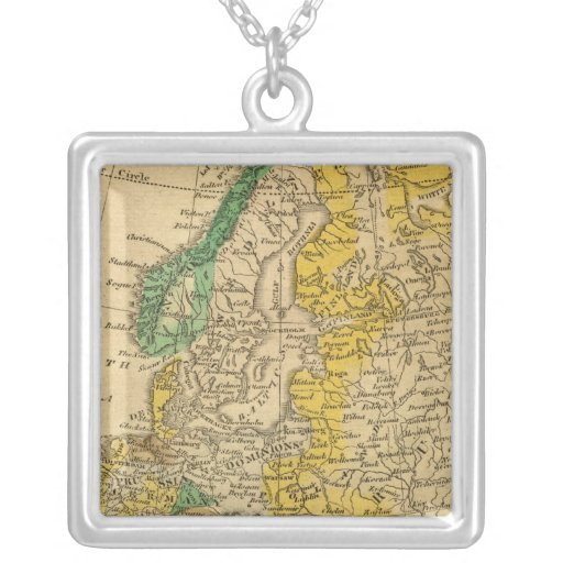 Europe  Map by Worcester Custom Necklace