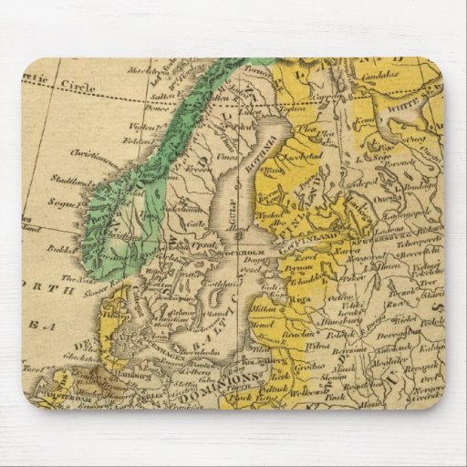 Europe  Map by Worcester Mouse Pad