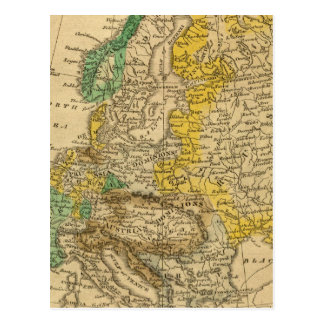 Europe  Map by Worcester Postcard