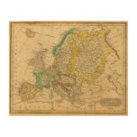 Europe  Map by Worcester Wood Wall Art