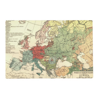 Europe Map Countries World Vintage Placemat