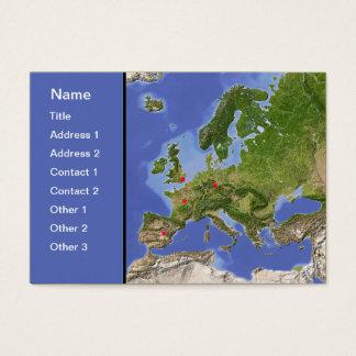 Europe map, customizable! business card