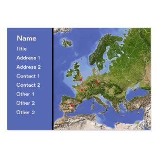 Europe map, customizable! large business card