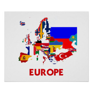 EUROPE MAP POSTER