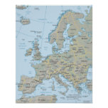 Europe Map Posters