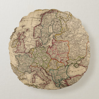 Europe map round pillow