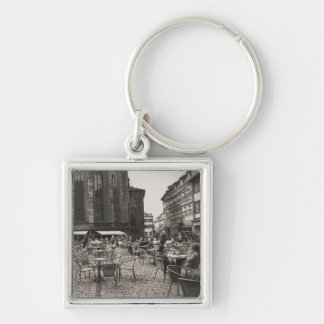 Europe Marketplaz Silver-Colored Square Keychain