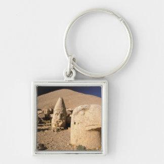 Europe, Middle East, Turkey, Nemrut Dagi Kahta 2 Silver-Colored Square Keychain