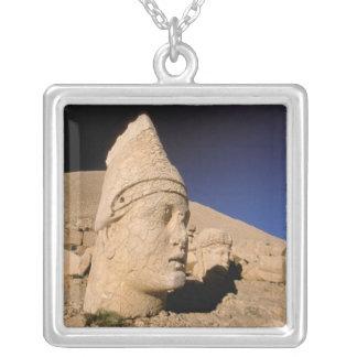 Europe, Middle East, Turkey, Nemrut Dagi Kahta Square Pendant Necklace