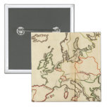 Europe, Mountains and Rivers 2 Inch Square Button