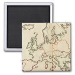 Europe, Mountains and Rivers 2 Inch Square Magnet