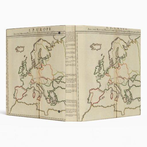 Europe, Mountains and Rivers 3 Ring Binder