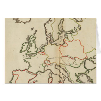 Europe, Mountains and Rivers Card