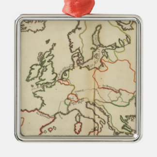 Europe, Mountains and Rivers Christmas Ornaments