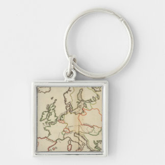 Europe, Mountains and Rivers Key Chains