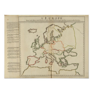 Europe, Mountains and Rivers Posters