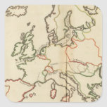 Europe, Mountains and Rivers Square Sticker