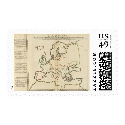 Europe, Mountains and Rivers Stamp