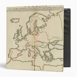 Europe, Mountains and Rivers Vinyl Binders
