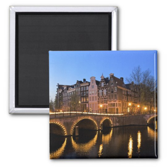 Europe, Netherlands, Holland, Amsterdam, 2 Inch Square Magnet