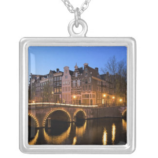 Europe, Netherlands, Holland, Amsterdam, Square Pendant Necklace