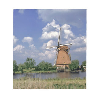Europe, Netherlands, Kinerdijk. A windmill sits Notepads