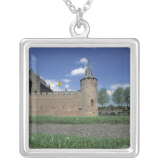 Europe, Netherlands, Muiden Muiden Castle Silver Plated Necklace