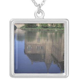 Europe, Netherlands, Vorden Vorden Castle Silver Plated Necklace